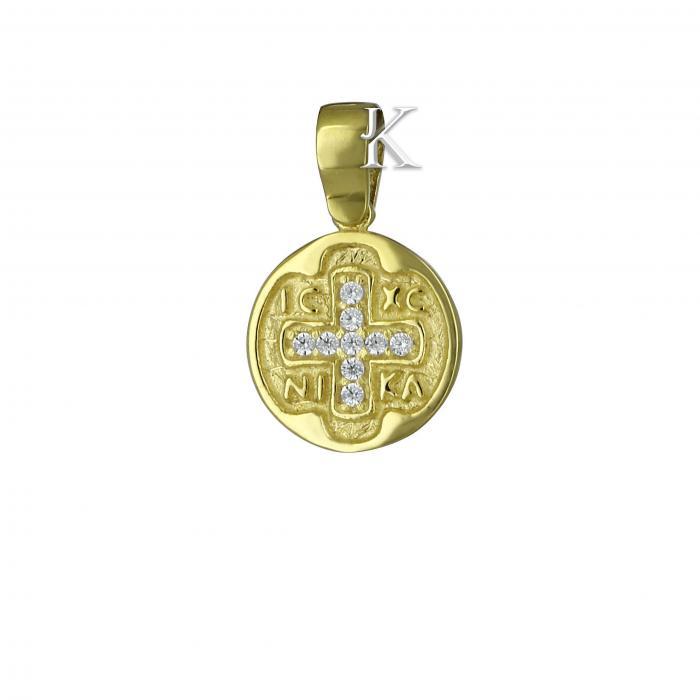SKU-569 / Κωνσταντινάτο Χρυσός Κ9 με Ζιργκόν