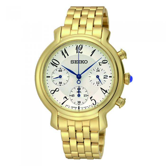 SKU-129 / SEIKO Chronograph Gold Stainless Steel Bracelet