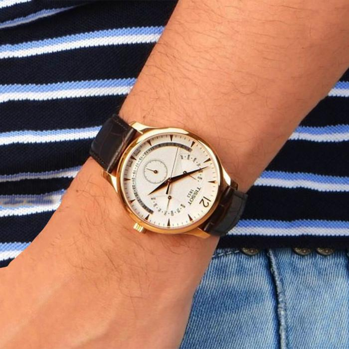 TISSOT T-Classic Perpetual Brown Leather Strap