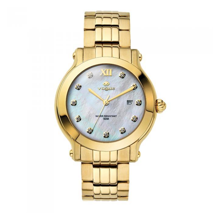VOGUE Grace Crystals Gold Stainless Steel Bracelet