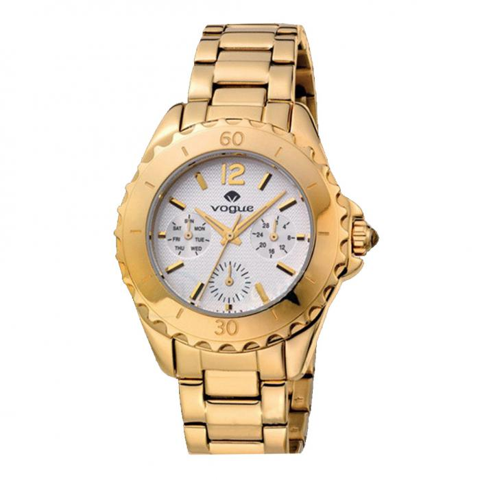 VOGUE Ladies Gold Stainless Steel Bracelet