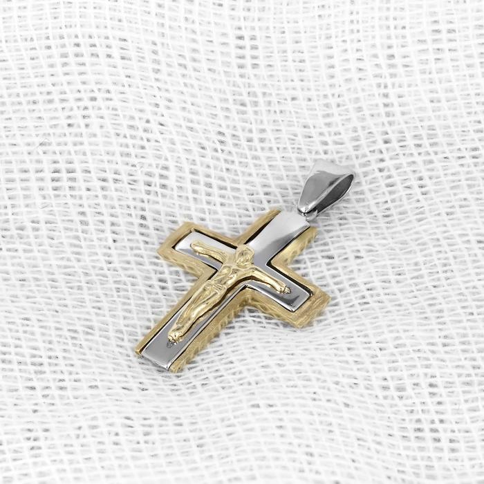 SKU-1239 / Σταυρός Λευκόχρυσος & Χρυσός Κ14