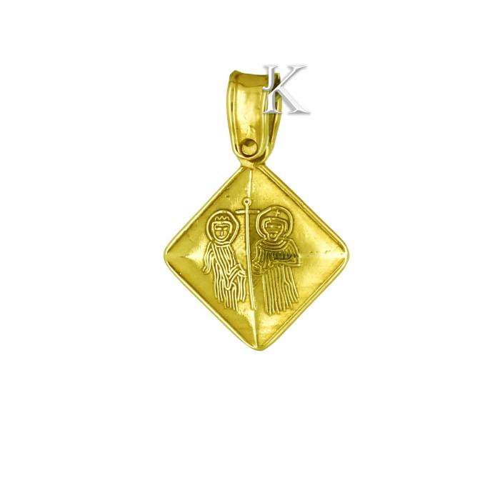 SKU-2217 / Κωνσταντινάτο Χρυσός Κ9 Διπλής Όψεως