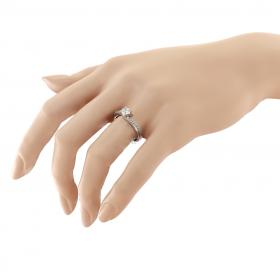 Δαχτυλίδι Μονόπετρο Λευκόχρυσος Κ14 με Ζιργκόν Μονόπετρα