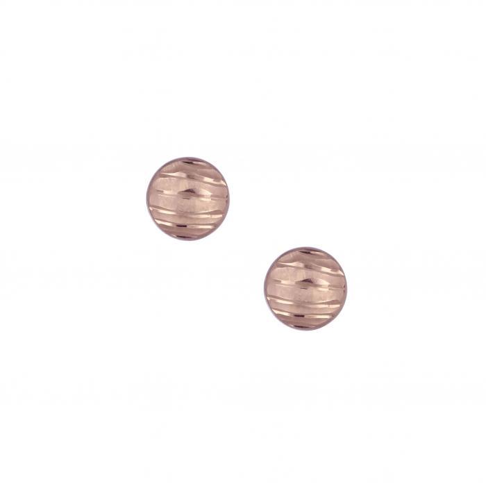 SKU-4420 / Σκουλαρίκια Ροζ Χρυσός Κ14