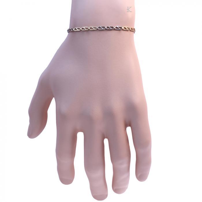 Αλυσίδα Χεριού Χρυσός & Λευκόχρυσος Κ9