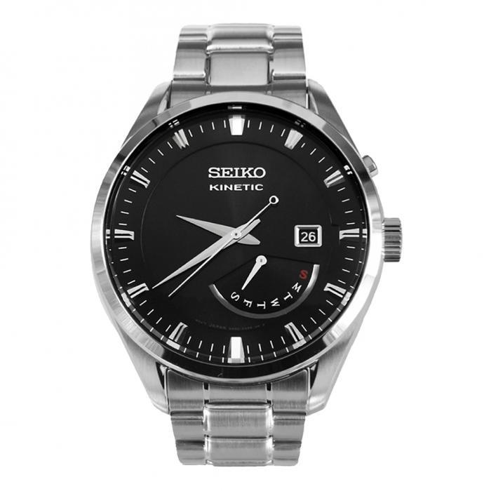 SKU-5210 / SEIKO Kinetic Silver Stainless Steel Bracelet