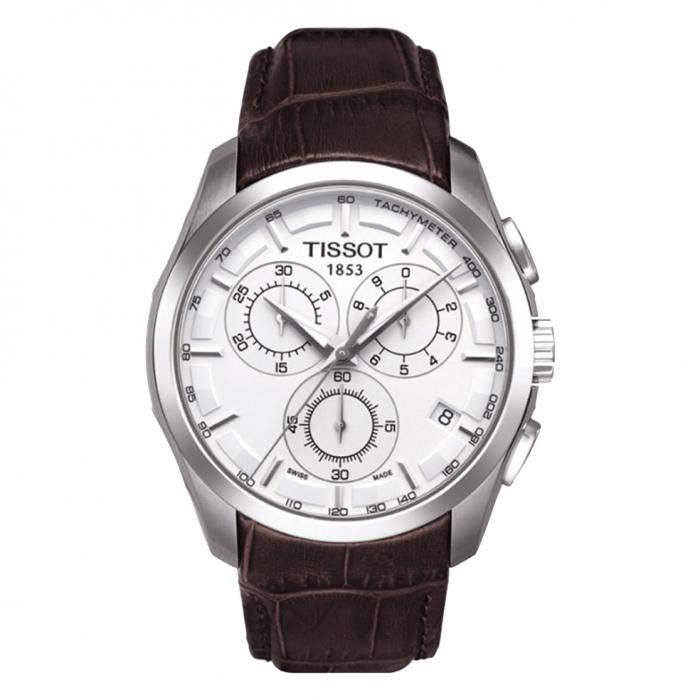 SKU-5011 / TISSOT Couturier Chronograph Brown Leather Strap