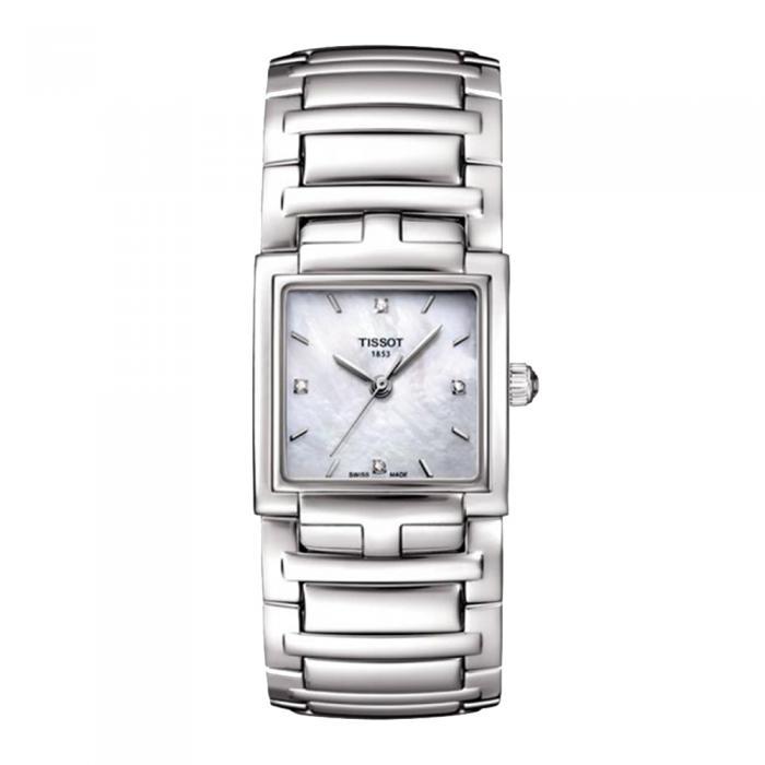 TISSOT T-Evocation Diamonds Stainless Steel Bracelet