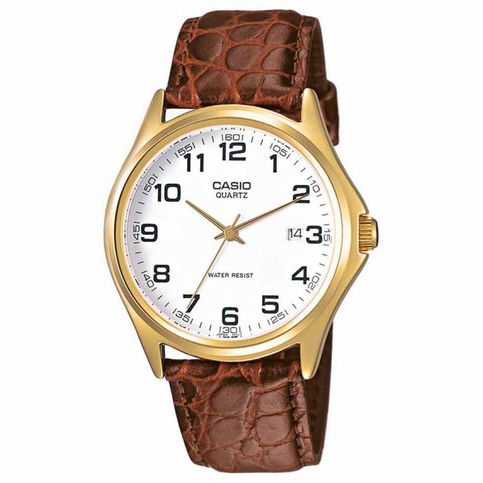 SKU-6805 / CASIO Collection Brown Leather Strap