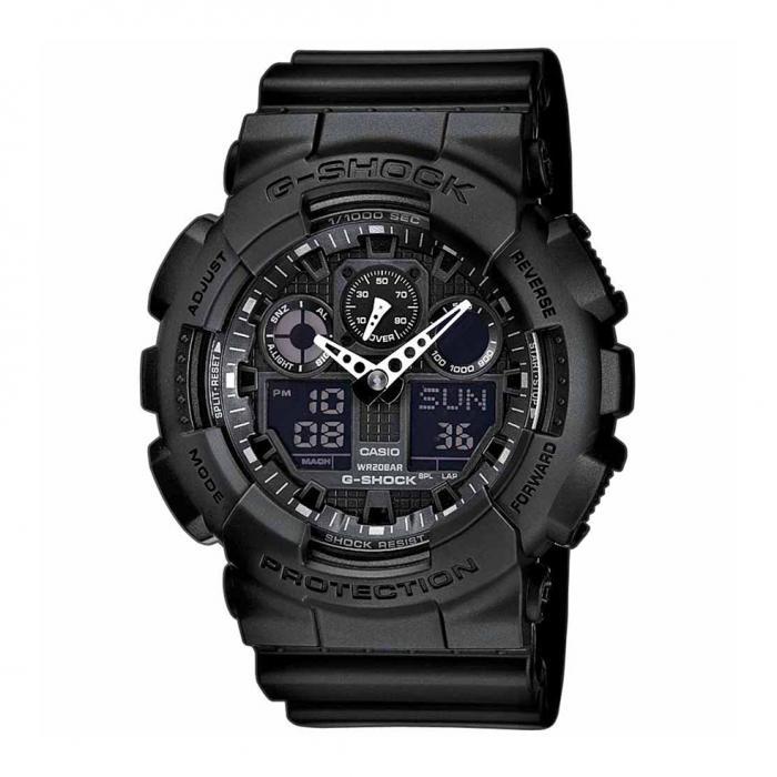 SKU-6732 / CASIO G-Shock Anadigi Black Rubber Strap