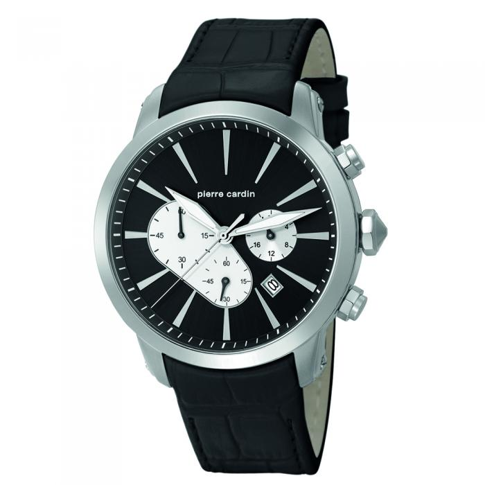 SKU-6488 / PIERRE CARDIN Black Leather Strap