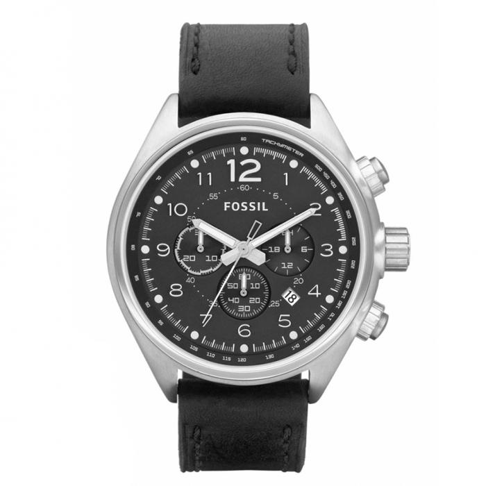 FOSSIL Black Leather Strap