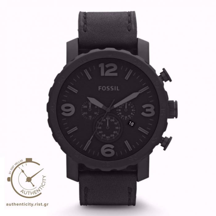 SKU-7972 / FOSSIL Chronograph Black Leather Strap