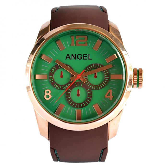 SKU-8127 / ANGEL Brown Rubber Strap