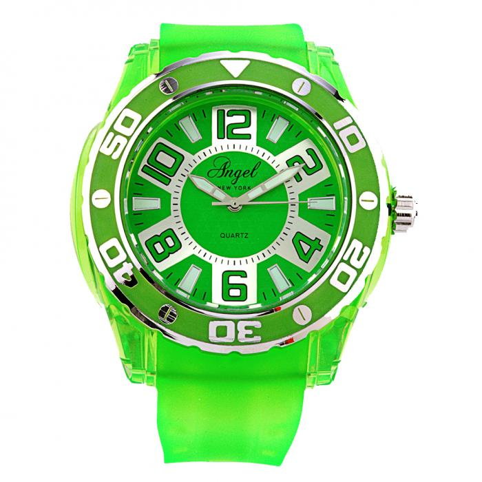 SKU-8126 / ANGEL Green Rubber Strap