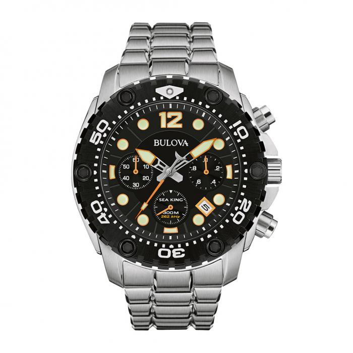 SKU-8768 / BULOVA Sea King Chrono Mens Stainless Steel Bracelet