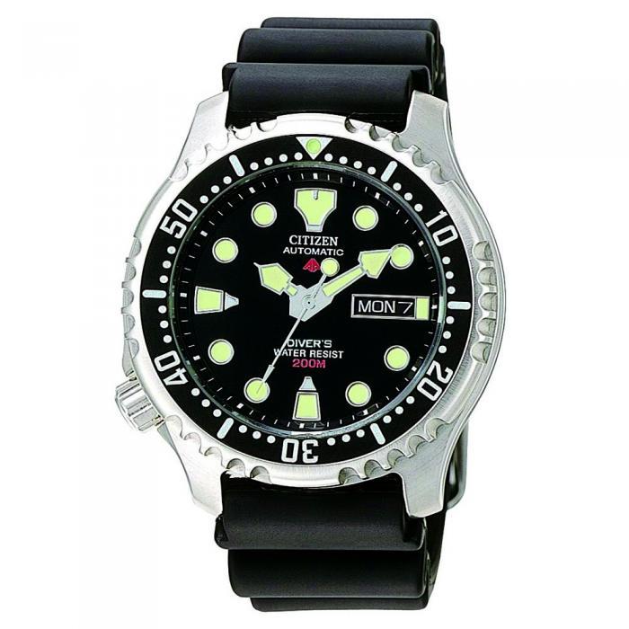 SKU-8590 / CITIZEN Promaster Automatic Divers Black Rubber Strap
