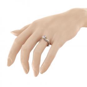 Δαχτυλίδι Μονόπετρο Λευκόχρυσος Κ9 με Ζιργκόν Μονόπετρα
