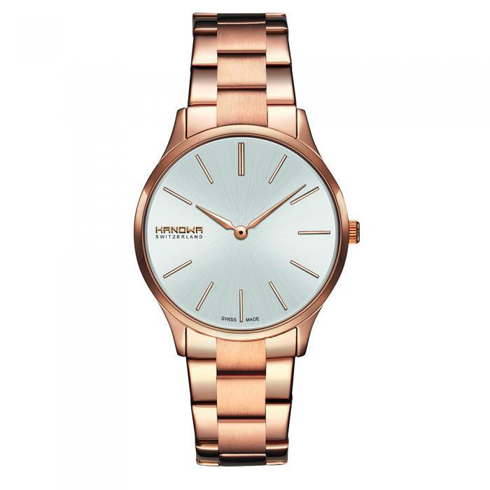 SKU-8900 / HANOWA Pure Ladies Rose Gold Classic Stainless Steel Bracelet