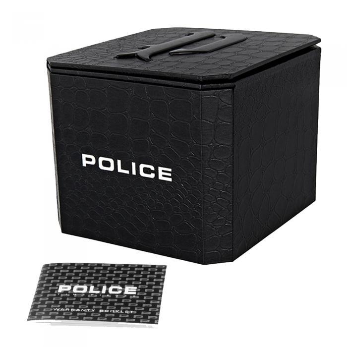 SKU-8710 / POLICE Stampede Black Leather Strap