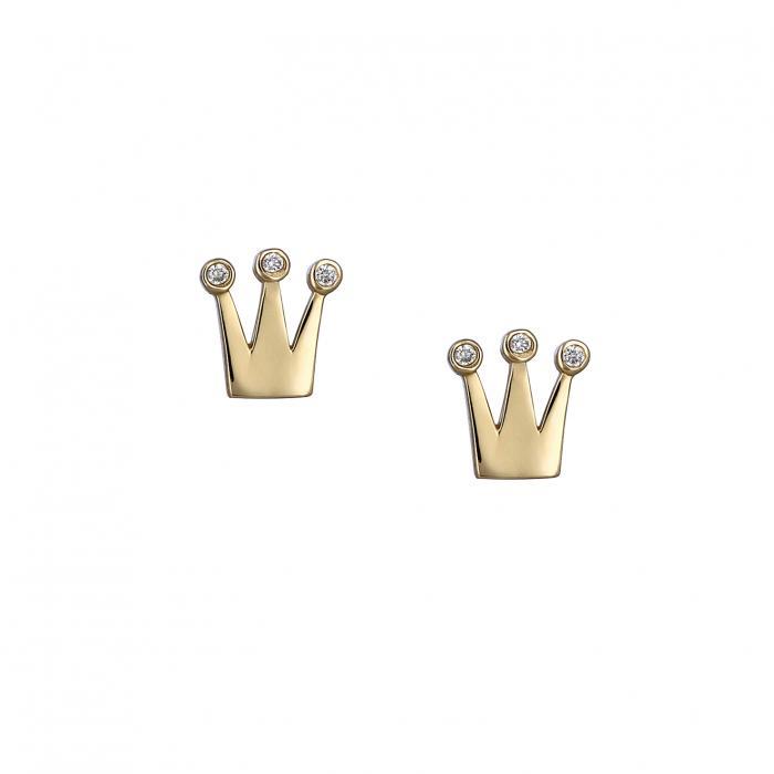 SKU-8384 / Σκουλαρίκια Χρυσός Κ14 με Ζιργκόν