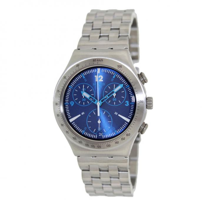 SWATCH Irony Rhythmic Blue Stainless Steel Bracelet