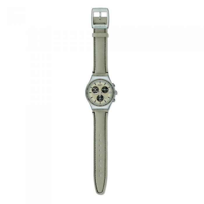 SWATCH Irony Wild Ride Beige Leather Strap