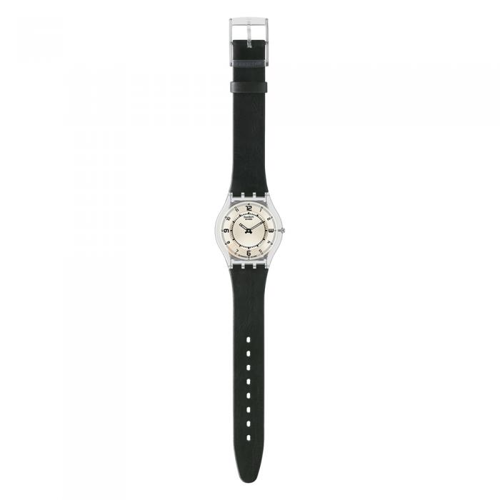 Swatch Skin Marrow Of Life Black Leather Strap