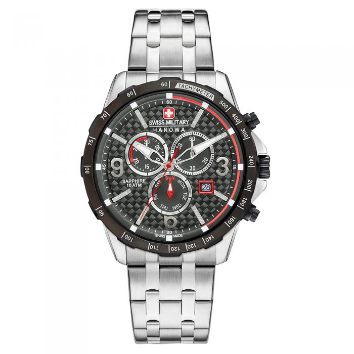 SKU-8828 / SWISS MILITARY HANOWA Ace Chrono Stainless Steel Bracelet