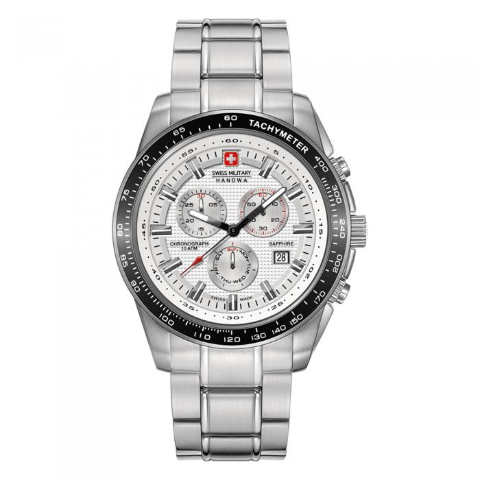 SKU-8790 / SWISS MILITARY HANOWA Crusader Stainless Steel Bracelet