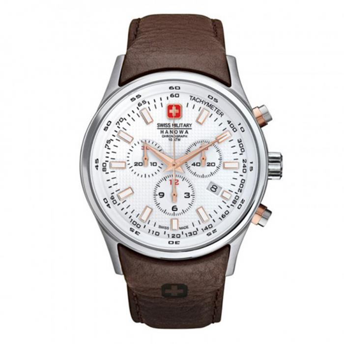 SKU-8836 / SWISS MILITARY HANOWA Navalus Brown Leather