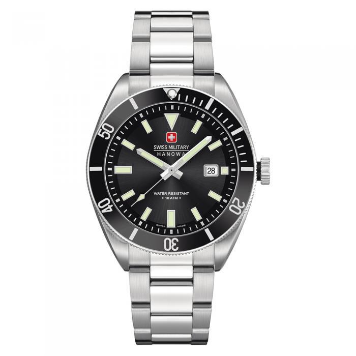 SKU-8803 / SWISS MILITARY HANOWA Skipper Stainless Steel Bracelet