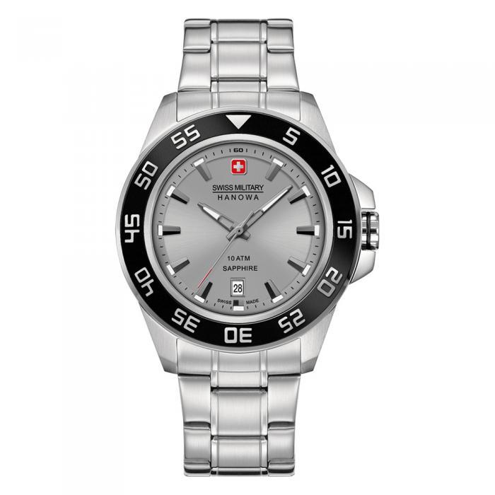 SKU-8787 / SWISS MILITARY HANOWA Sword Stainless Steel Bracelet