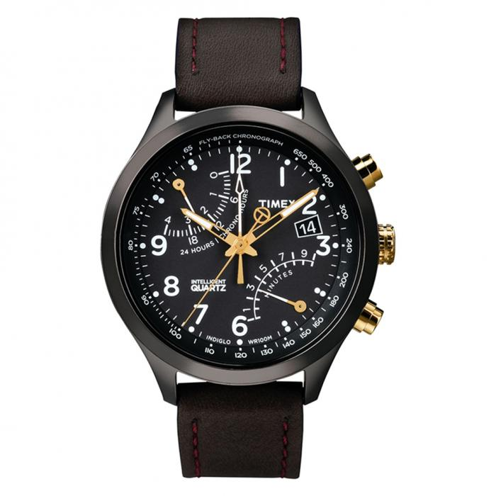 SKU-8636 / TIMEX IQ Brown Leather Strap