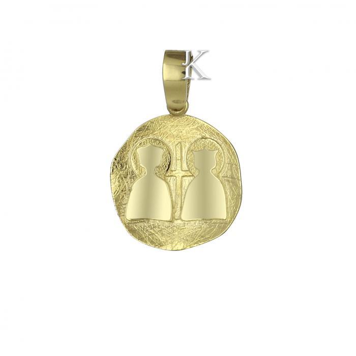 Κωνσταντινάτο Χρυσός Κ9 Διπλής Όψεως με Ζιργκόν.
