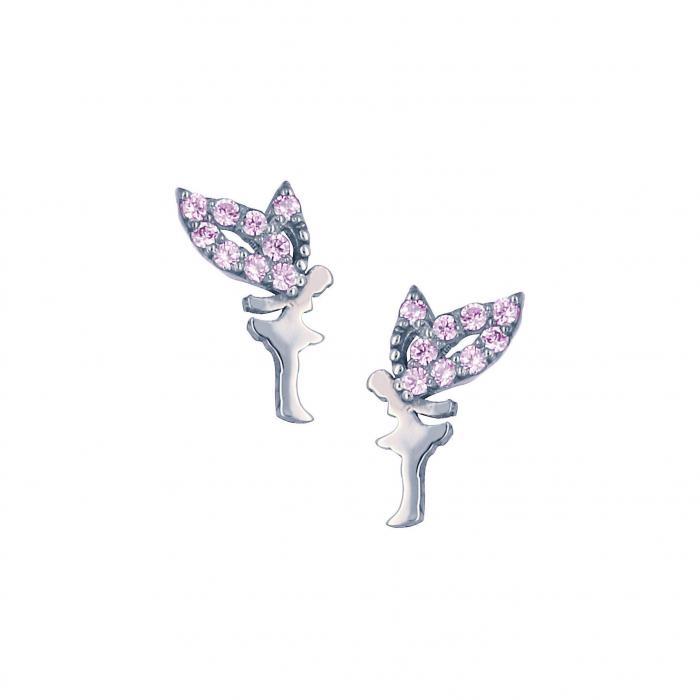 SKU-10554 / Σκουλαρίκια Λευκόχρυσος Κ9 με Ζιργκόν