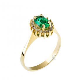 Δαχτυλίδι Ροζέτα Χρυσός Κ14 με Ζιργκόν SKU-11977