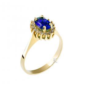 Δαχτυλίδι Ροζέτα Χρυσός Κ14 με Ζιργκόν SKU-11978