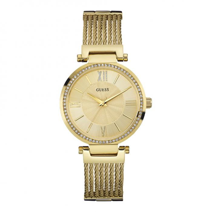 SKU-11272 / GUESS Crystals Gold Stainless Steel Bracelet