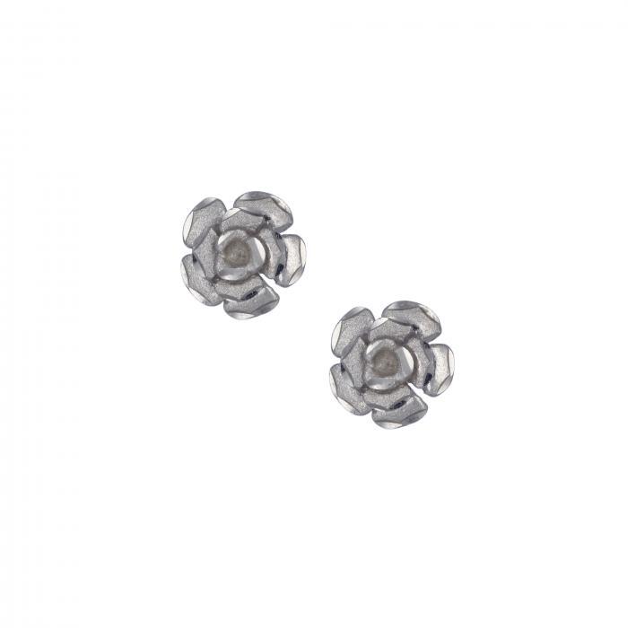 SKU-12400 / Σκουλαρίκια Λευκόχρυσος Κ14