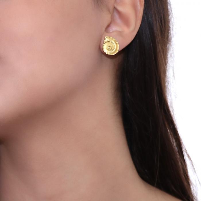 SKU-12050 / Σκουλαρίκια Χρυσός Κ18