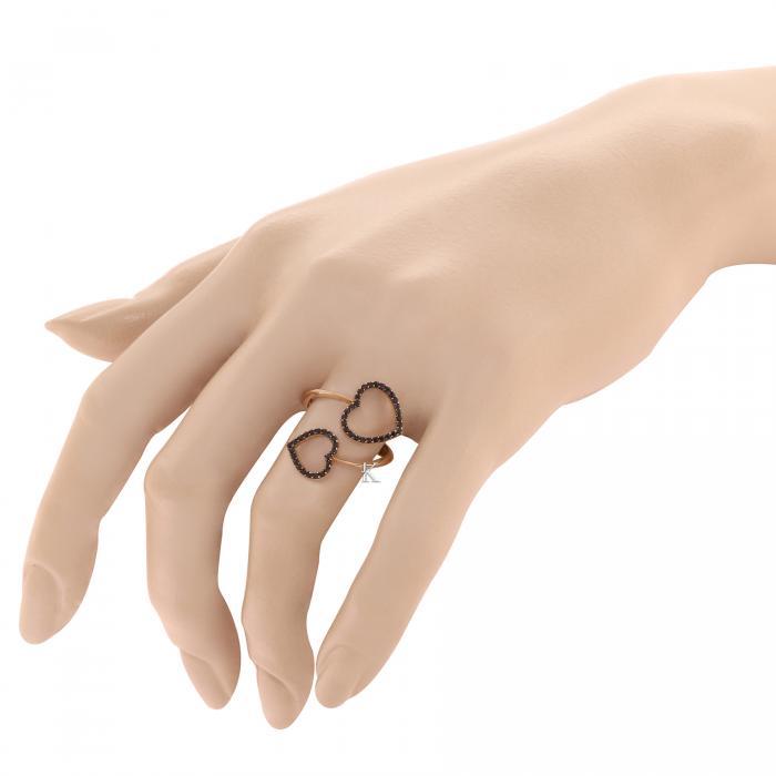 Δαχτυλίδι FaCad'oro Ροζ Χρυσός Κ14 με Ζιργκόν