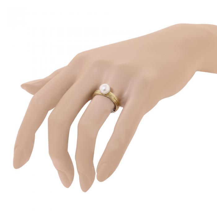 Δαχτυλίδι Facad'oro Χρυσός Κ14 με Μαργαριτάρι