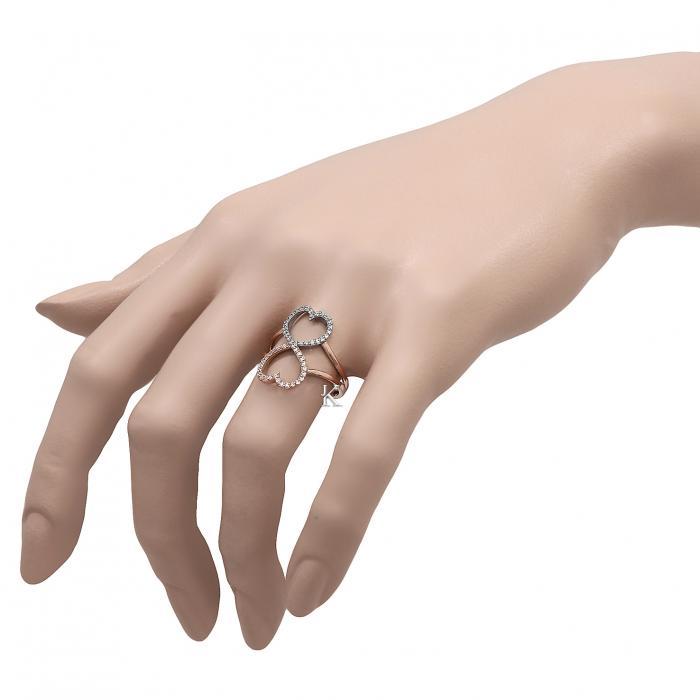Δαχτυλίδι Λευκόχρυσος &  Ροζ Χρυσός Κ14 με Ζιργκόν
