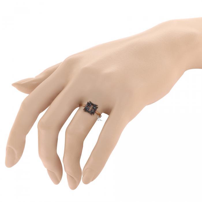 Δαχτυλίδι Ροζ Χρυσός Κ9 με Ζιργκόν