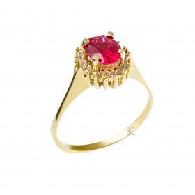 Δαχτυλίδι Ροζέτα Χρυσός Κ14 με Ζιργκόν SKU-13560