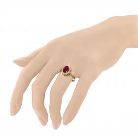 Δαχτυλίδι Ροζέτα Χρυσός Κ14 με Ζιργκόν Δαχτυλίδια