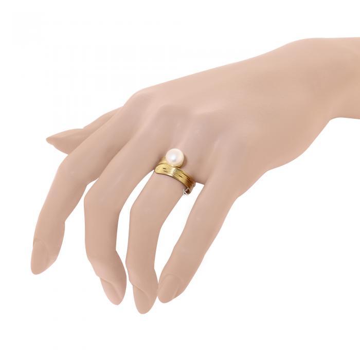 Δαχτυλίδι Χρυσός Κ14 με Μαργαριτάρι