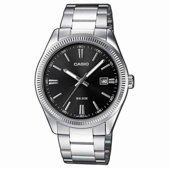 SKU-14945 / CASIO Collection Stainless Steel Bracelet Black Dial